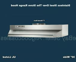 "Over The Stove Range Hood Ducted Stainless Steel 30"" under K"