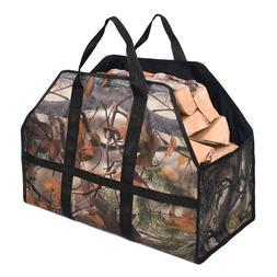 Oxford Log Carrier Tote Bag Firewood Holder <font><b>Firepla