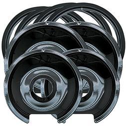 Range Kleen P1056RGE8 Style D Black Porcelain 4-Pack Drip Pa