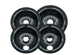 Range Kleen P119204XZ Porcelain GE Drip Pans, Set of 4 Conta