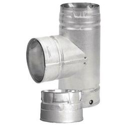"DuraVent PelletVent 3"" Tee with Clean-Out Cap Fireplace Acce"