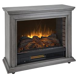Pleasant Hearth Sheridan Mobile Infrared Fireplace-Dark Weat