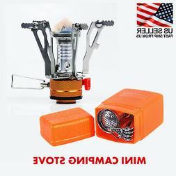 Portable Mini Stove Gas Burner for Camping, Outdoor - Piezo