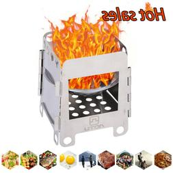 Portable Outdoor Camping Wood Stove Compact Cooking Picnic
