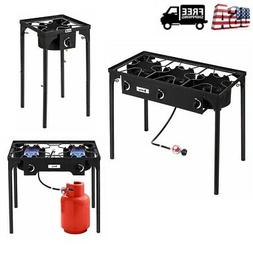 Portable Propane 1/2/3 Burner Gas Cooker Outdoor Camp Stove