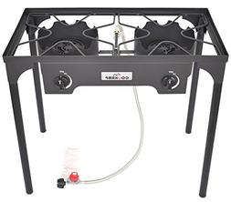 COOKAMP High Pressure 2-Burner Outdoor Camp Stove with 0-20
