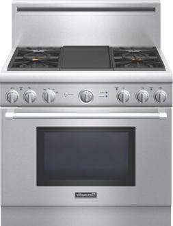 Thermador ProGrand 36In Stainless Steel Freestanding Gas Ran