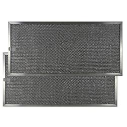 2 PACK Air Filter Factory 9 X 19 X 3/8 Range Hood Aluminum G