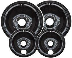 Range Stove Drip Pans Porcelain Burner Bowls 4pc Set  USA
