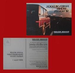 1987-88 LAND ROVER RANGE ROVER VOGUE Efi FACTORY ORIGINAL CO