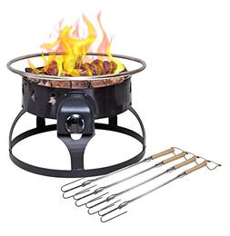 Camp Chef Redwood Portable Propane Fire Pit with 4 Roasting