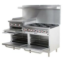 Restaurant Range 6 Burner Gas Oven Griddle Supply Equipment