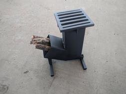 rocket hunting camping wood stove with automatic