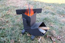 Rocket Stove with *Removable top and Self Feeding* Camping S
