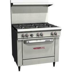s36d 36 commercial restaurant range oven stove
