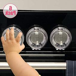 Eudemon 6 Pack Safety Children Kitchen Stove Gas Knob Covers