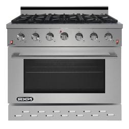 """NXR SC3611 36"""" 5.5 cu.ft. Professional Style Gas Range with"""