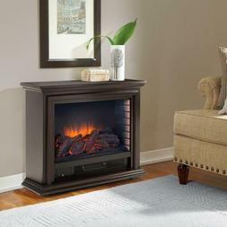 Sheridan Mobile Infrared Fireplace 32 in Freestanding Espres