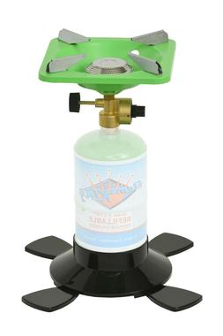 Single Burner Portable Camping Stove with Base for 1lb Propa