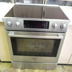 Bosch Slide in Glass top Stove Stainless Steel- HEI8054U