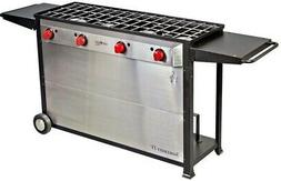 Somerset 4-Burner Propane Gas Grill In Stainless Steel With