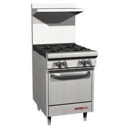 Southbend S-Series S24E 24'' Gas Range, 4 Open Burner, Stand