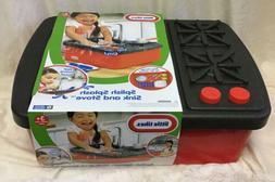 Splash Sink Stove Kids Real Working Faucet Drain Water Play