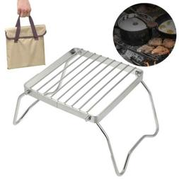 Dilwe Stainless Steel Charcoal BBQ Grill Camping Hiking Picn