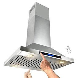 stainless steel island mount dual