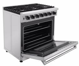 Thor Kitchen Stainless Steel Kitchen 36inch Gas Range Stove