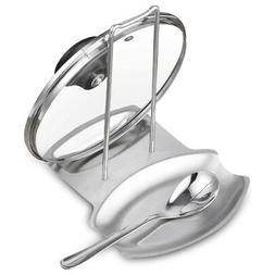 Stainless Steel Kitchen Oven Stove Lid and Spoon Rest Utensi