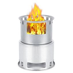 PROKTH Stainless Steel Stove Energy-saving Camping Stove Pot