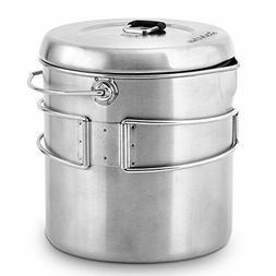 Solo Stove Titan & Solo Pot 1800 Camp Stove Combo: Woodburni