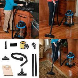 Vacmaster 6 gal Stainless Steel Wet & Dry Vacuum 7ft Hose 12