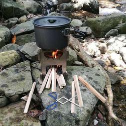Lixada Stainless Steel Wood Stove Pocket Alcohol Stove/Tweez