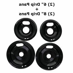 Replacement for Whirlpool Stove Drip Pans, Black W10288051 T