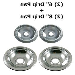 Stove Drip Pans Replacement Set for Frigidaire Kenmore 31604