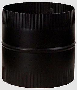 """Stove Pipe 8"""" Starter Joint/Connector Union 24 Gauge Black S"""