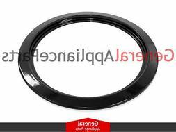 "Stove Range 6"" Black Burner Drip Ring Replaces Maytag Amana"
