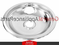 "Amana Magic Chef Admiral Whirlpool Stove 8"" Chrome Drip Pan"