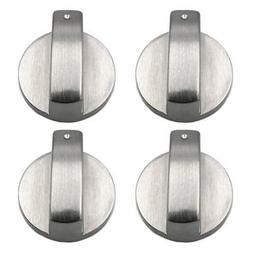 SODIAL Stoves Cooker Knobs,Oven Knob,6mm Universal Silver Ga