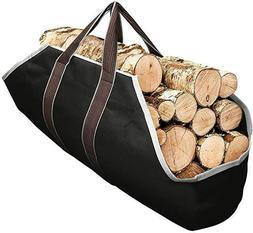 Sturdy Canvas Firewood Log Carrier, Durable, Fireplace Acces