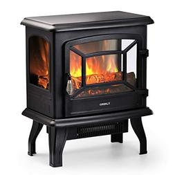 "TURBRO Suburbs 20"" 1400W Electric Fireplace Stove, CSA Certi"