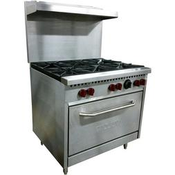 "Vulcan SX36-6B 36"", 6 Burner, Natural Gas Range"