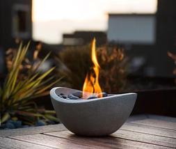 Tabletop Fire Pit Table Fireplace Gel Stone Firepit Decorati