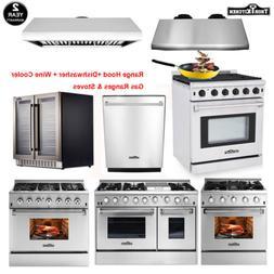 """Thor Kitchen Cooking Gas Range Stove & 24"""" Dishwasher & Rang"""