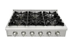 Thorkitchen Pro-Style Gas Rangetop with 6 Sealed Burners  36