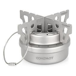 TOMSHOO Titanium Alcohol Stove & Rack Combo Set Mini Ultrali