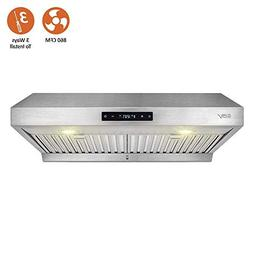 BV Range Hood - 30 Inch 860 CFM Touch Screen Under Cabinet S