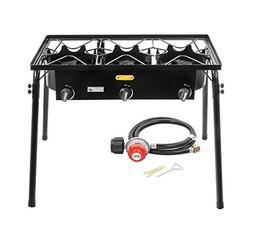 CONCORD Triple Burner Outdoor Stand Stove Cooker w/ Regulato